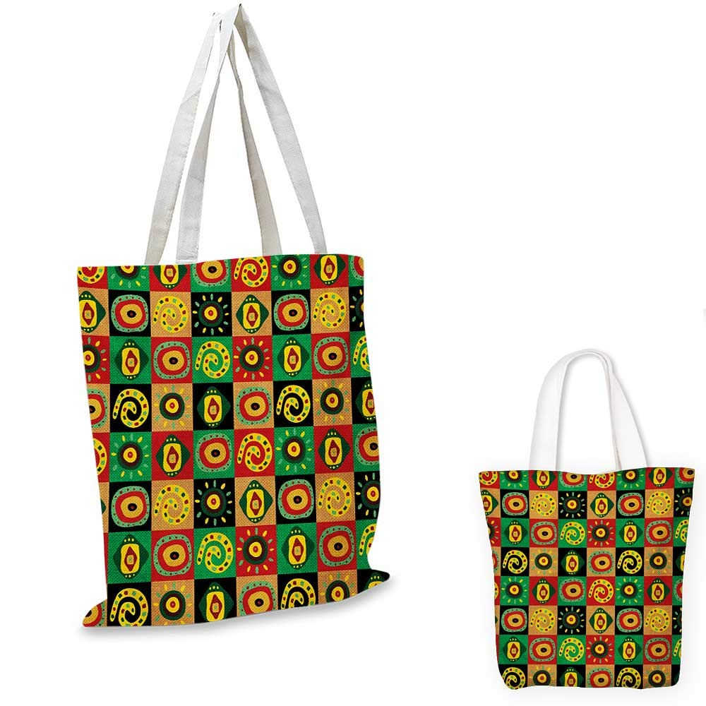 African canvas messenger bag Tribal Tile Pattern with Diamond Line Motifs Ancient Cultures canvas beach bag Mustard Dried Rose Charcoal Grey 12x15-10