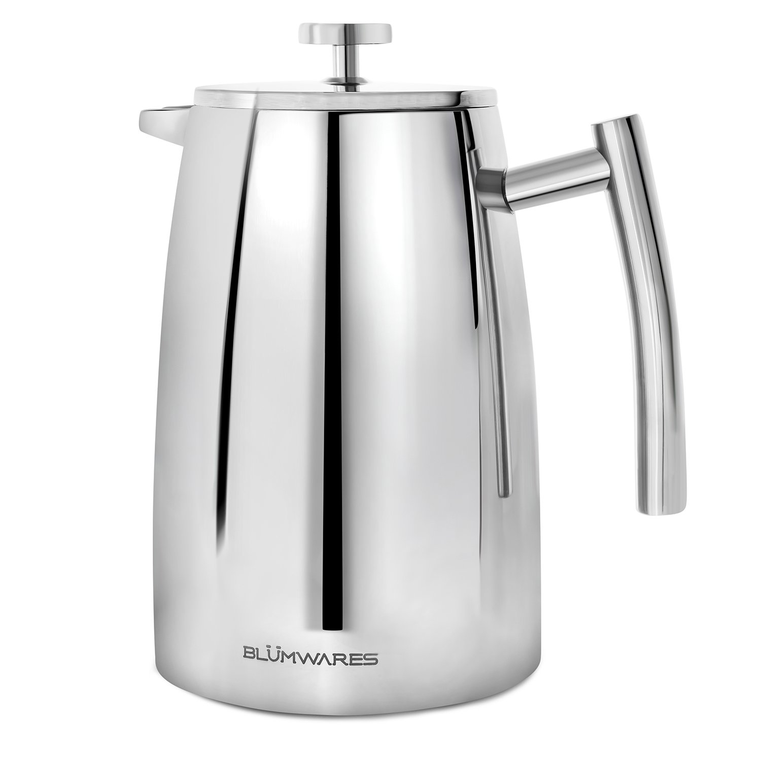 Blümwares 50 Ounce (1500ml) French Press Coffee Maker - 18/10 Stainless Steel