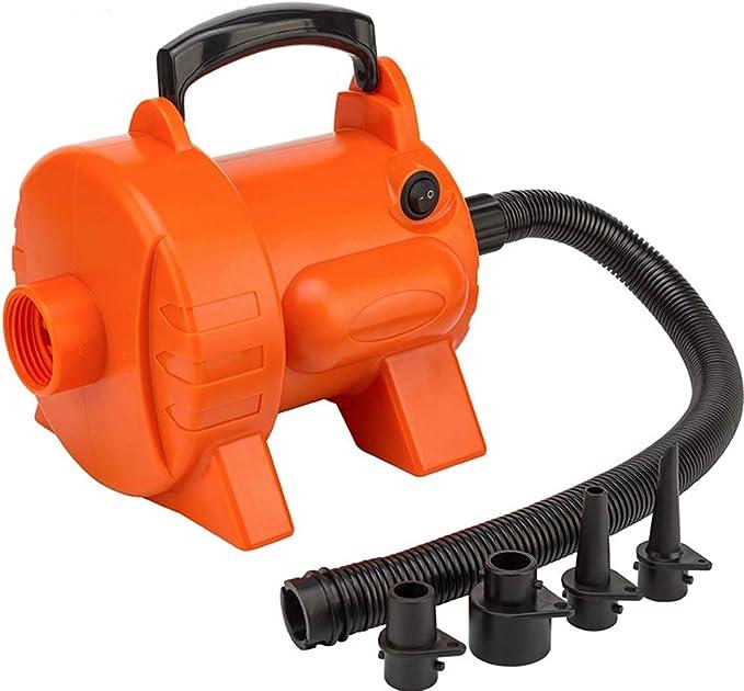 Sddlng Inflador eléctrico - Bomba de Aire eléctrica de Alta presión Inflador de neumáticos portátil de 220 V Adecuado para Camas inflables, Vueltas para Nadar, sofás inflables, etc.