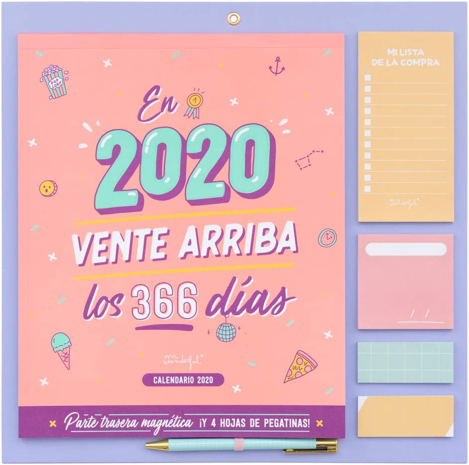 Amazon.com : Wall Calendar 2020 - In 2020, Sent Up 366 Days ...