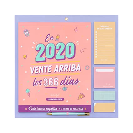 Mr. Wonderful WOA09848ES, Calendario de Pared 2020, Talla Única ...