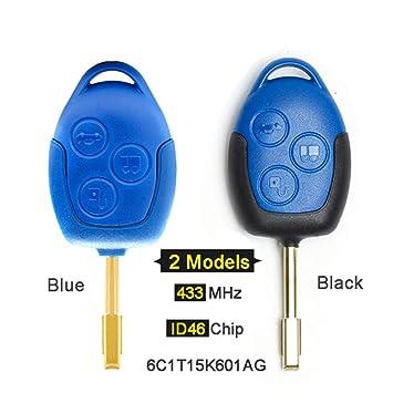 Beefunny 433MHz 4D63 Chip P/N:6C1T15K601AG 3 Botones Mando a ...