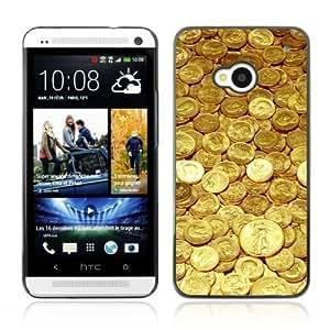 YOYOSHOP [Gold Coins Money] HTC One M7 Case