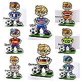 ROMERO BRITTO ORIGINAL 8 WORLD CUP MINI SOCCER PLAYER FIGURINES- SET OF 8
