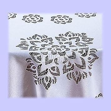 51 x 67 Polyester blanc OVAL Grande ou moyenne Nappe ovale blanche De qualit/é sup/érieure. 130 x 170cm