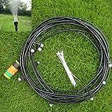 Teekini 10m/33Ft Micro Garden Misting Cooling System Atomization Spray Nozzle
