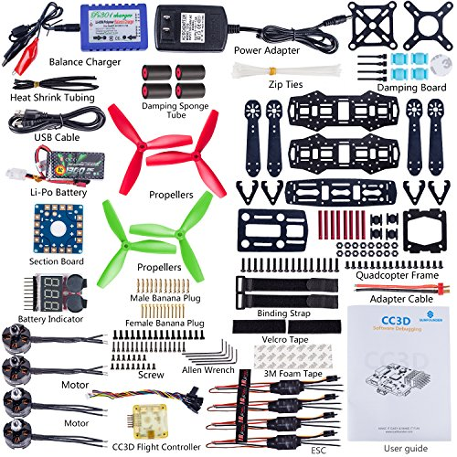 Amazon Sunfounder 250 Fpv Quadcopter Drone Frame Kit Cc3d Esc. Amazon Sunfounder 250 Fpv Quadcopter Drone Frame Kit Cc3d Esc Simon 12a Motor Mt2204 Glass Fiber Racing Flying 4axis Propellers Battery Balance. Wiring. Wiring Diagram Cc3d Drone At Scoala.co