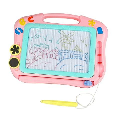 95b590eb89 Lavagna Magnetica per Bambini, Lavagna Doodle con Sezione di 4 Colori,  Portatile Lavagna Cancellabile