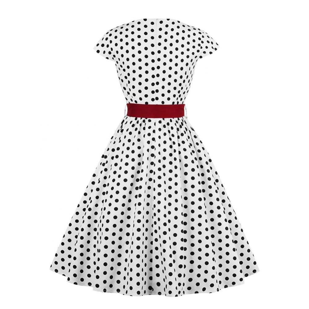 Women Retro Dress Rockabilly Halter Bowknot Sleeveless Hepburn Pleated Floral Swing Cocktail Vintage Dresses
