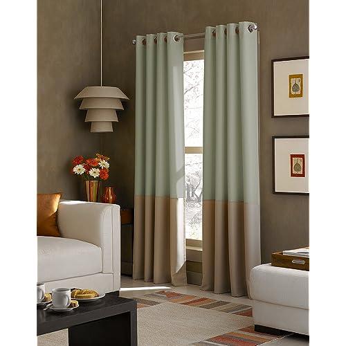 Two Tone Curtains Amazon Com
