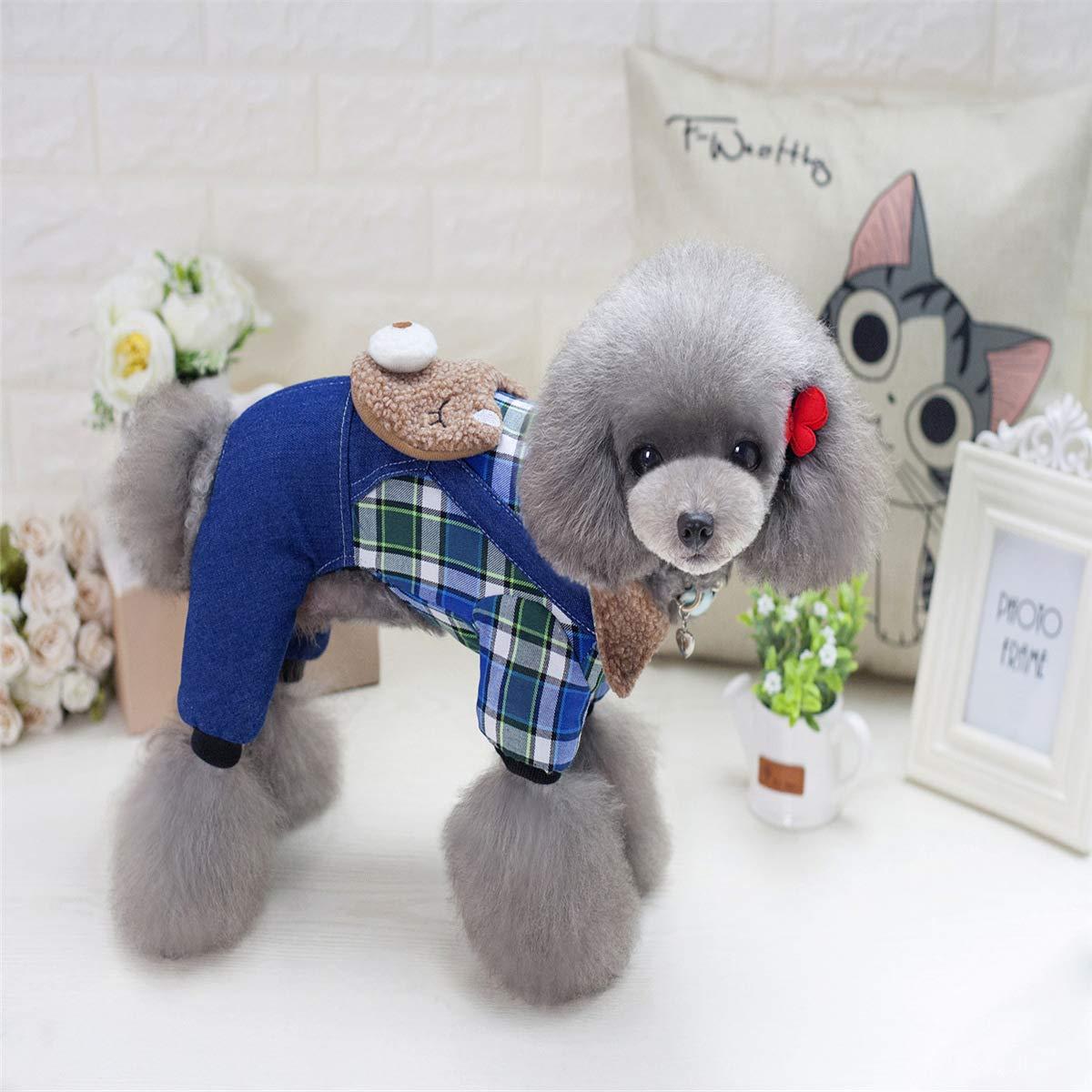 QINCH Home Home Home Ropa para Mascotas Perro Mezclilla Suministros para Mascotas Ropa para Mascotas Dormir Dormir Oso Cuatro piernas Mezclilla (Color : Green, Size : L) 610d93