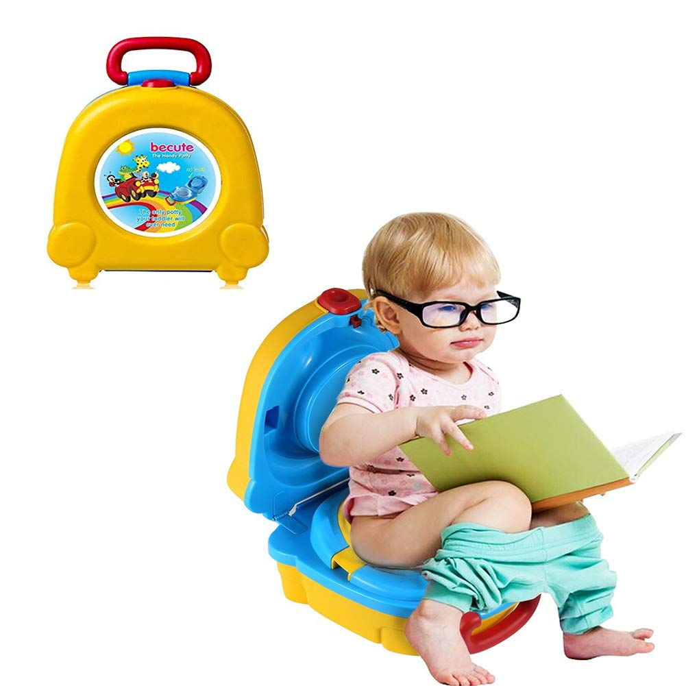 Portable Travel Potty Training Yellow Camping Car Travel Potty Training Toilet Boys and Girls Toddlers Perfect Mommy\s Helper Potty Training Urinal for Kids