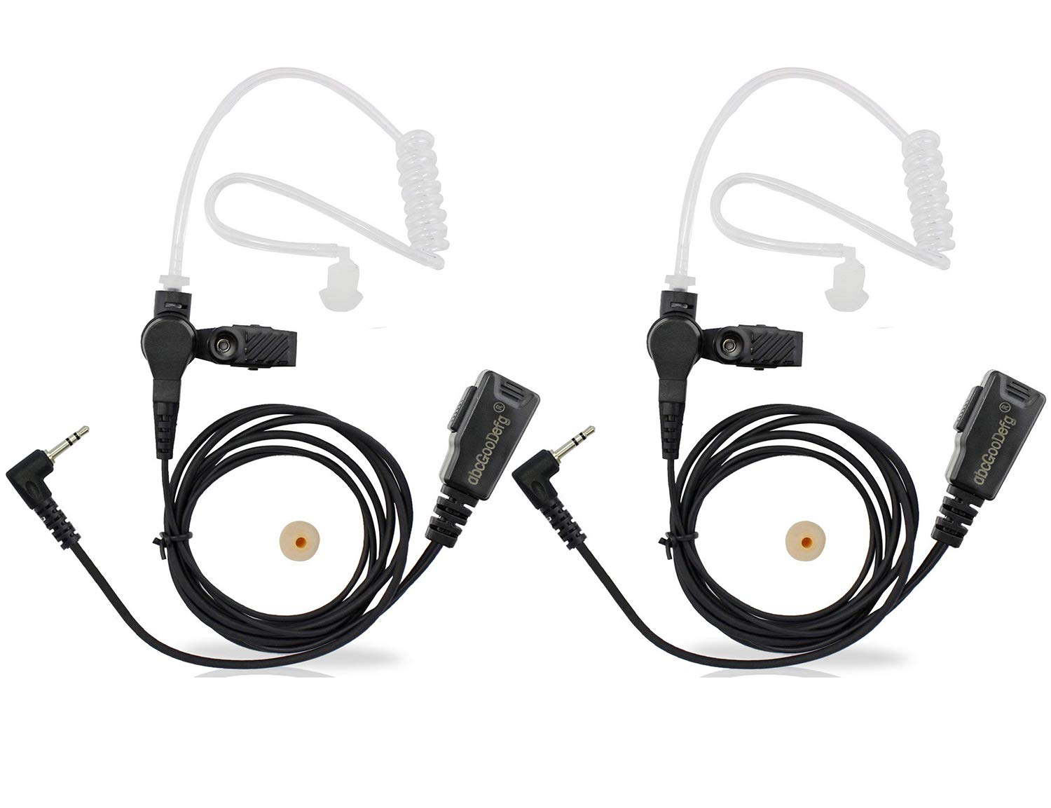 Acoustic Tube Headset Police PTT Mic Earpiece for Motorola Talkabout Radio 1 pin