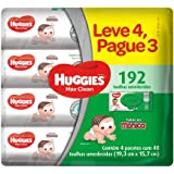 Huggies Lenços Umedecidos Max Clean, 4 pacotes com 48 toalhas - Leve 4 pague 3