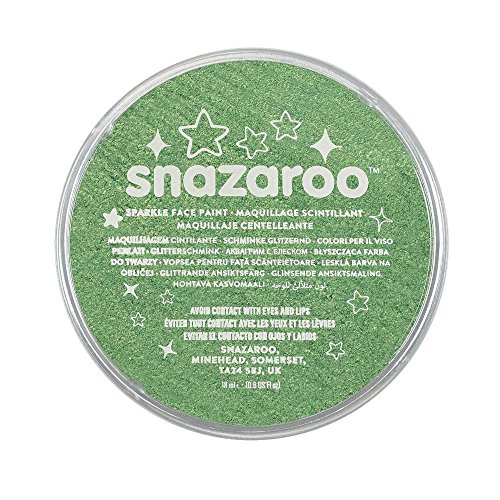 Snazaroo Face and Body Paint, 18ml, Sparkle Pale Green -