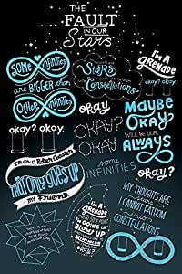 The Fault in Our Stars Cuadro Póster, madera, multicolor