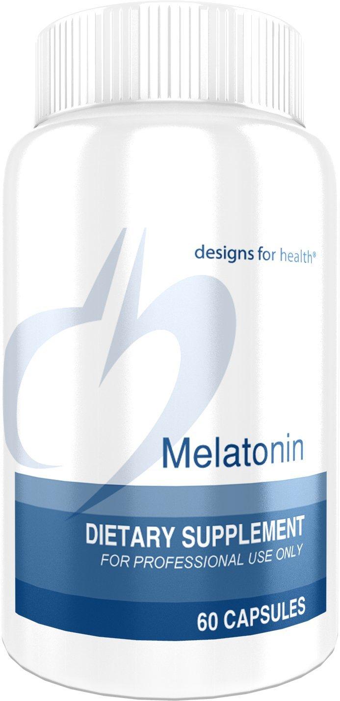 Designs for Health - Melatonin - 3mg + 10mg Vitamin B6, Sleep Aid, 60 Tablets
