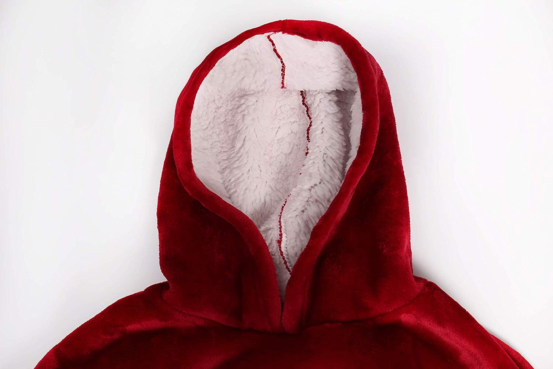 Grey Fleece Hooded Robe for Adults Men /& Women Yomitek Blanket Hoodie Sweatshirt Oversized,Super Soft Warm Comfortable Hoody with Giant Pocket,Reversible,Bathrobe One Size Fit All