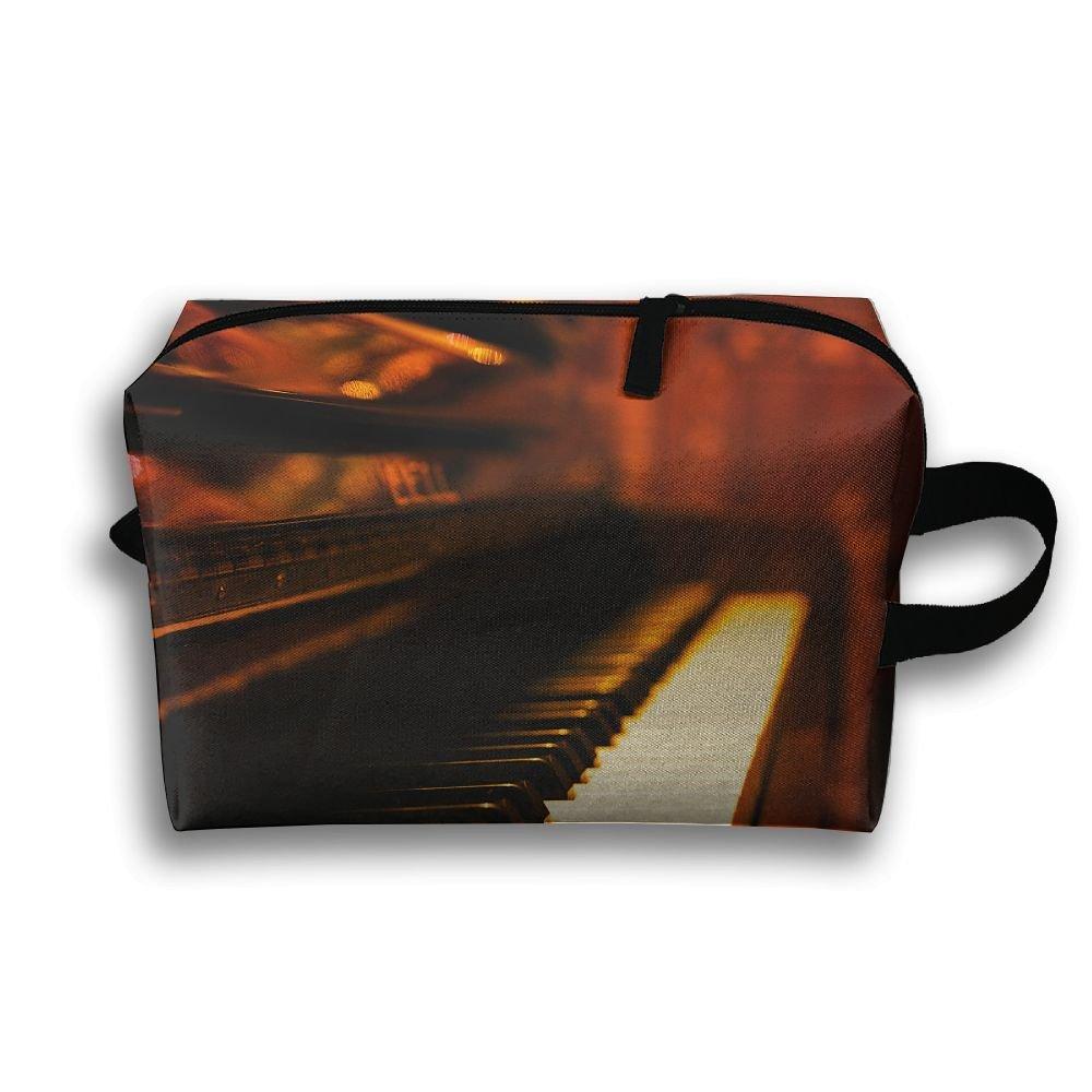 LEIJGS ビンテージ ピアノ 音楽 小型 旅行 トイレタリーバッグ 超軽量 トイレタリーオーガナイザー 夜間の旅行バッグ   B07JCXGR4K