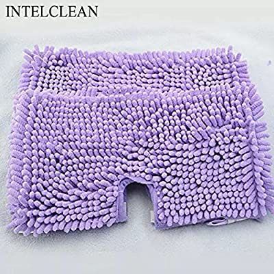 INTELCLEAN Accessories For Replacement Cleaning Shark Microfiber Steam Mop Pads For S3501 S3601 (2)