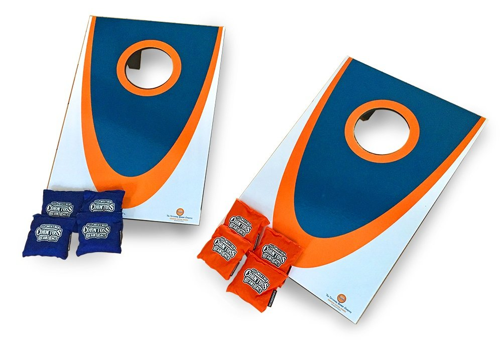 Driveway Games Junior Cornhole Set. Mini Tabletop Corn Toss Boards & Bean Bags for Camping, Travel & Indoors