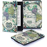 DHZ Case for Kindle Paperwhite 2012-2017 Released Versions(no Fit 2018 Newest Paperwhite 10th Generation) - The Lightest Pu Leather Cover for Amazon Kindle Paperwhite,Ancient World Map