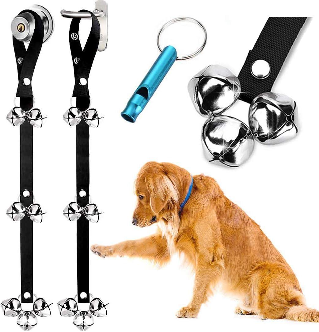 Housetraining Doggy Door Bells for Potty Training Premium Quality Dog Doorbells Mighty Paw Tinkle Bells