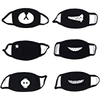 PROACC 6 Paquets Coton Les Masques, Anti-Poussière Masque,Bicyclette Masque, Kawaii Chaud Masque, pour Homme Femme De