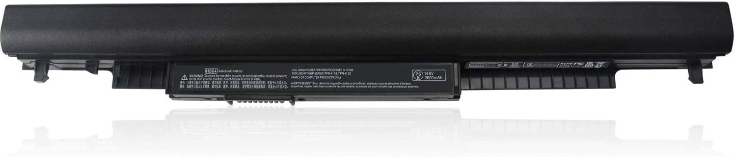 LNOCCIY 4-Cell 14.8V 2600MAH HS03 HS04 Laptop Battery for HP 807957-001 807612-421 807956-001 807611-141 807612-831 hstnn-lb6u hstnn-pb6s hstnn-lb6v Pavilion 15-ac000 15-af000 15g-ad000 Series