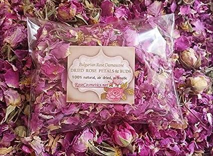 Pétalos de rosa 100% natural, rosa de Bulgaria, flores secas aromáticas, 10 g
