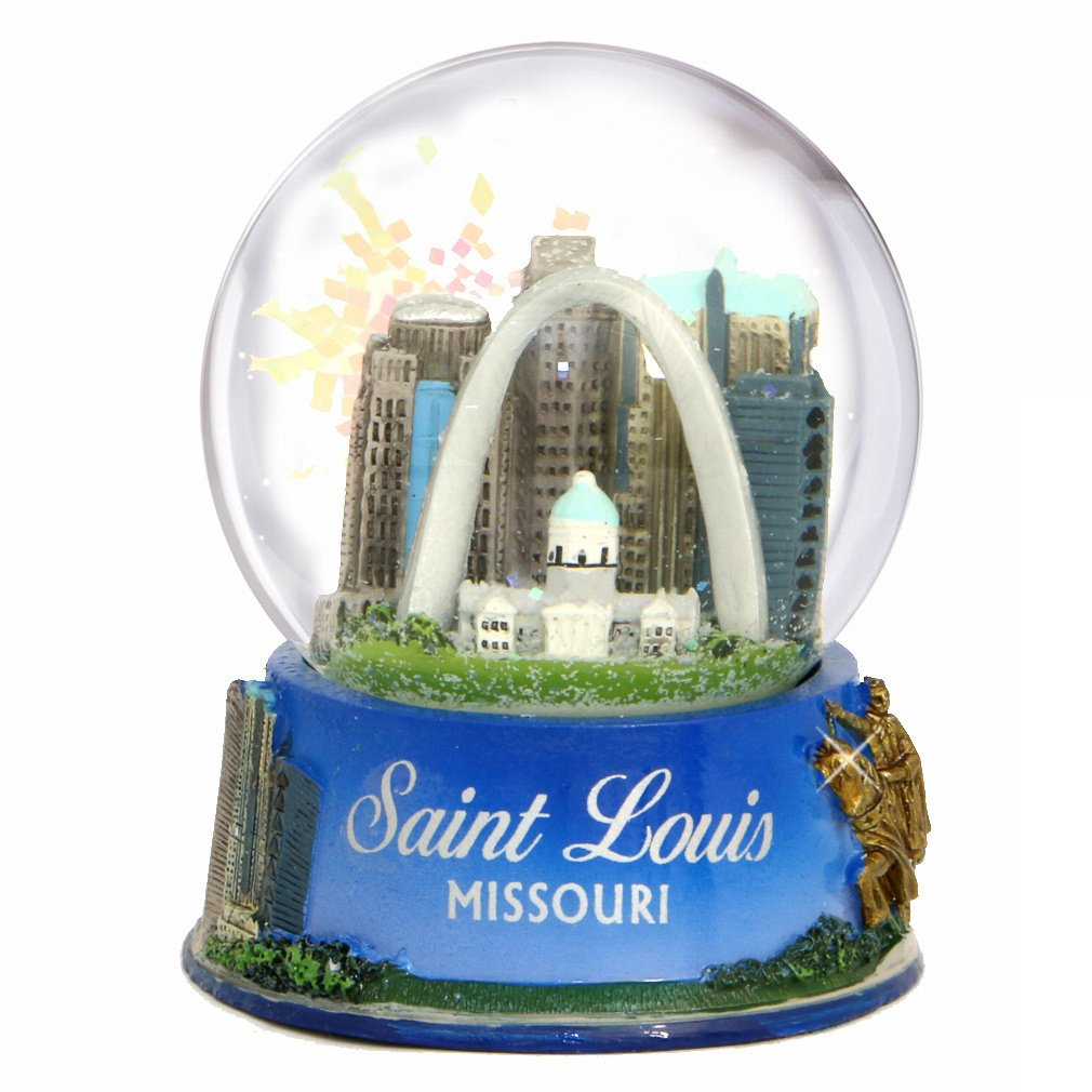 St. Louis Missouri Snow Globe- Snow Dome (3.5 Inches) by City-Souvenirs