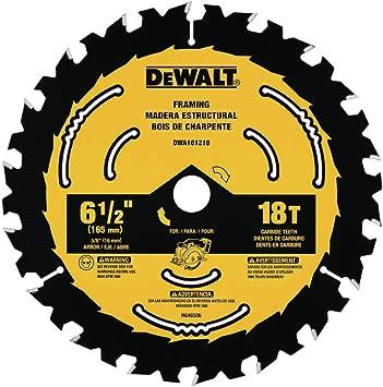 Dewalt Dwa161218 6 1 2 Inch 18 Tooth Circular Saw Blade Amazon Com