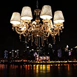 CNlinkco Modern Home Lighting 40 x 8W Crystal Ceiling Light Pendant Lamp Fixture Chandelier(8 Bulb Clear) For Sale