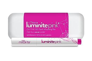 Amazon Com Luminite Pink On The Go Teeth Whitening Pen For