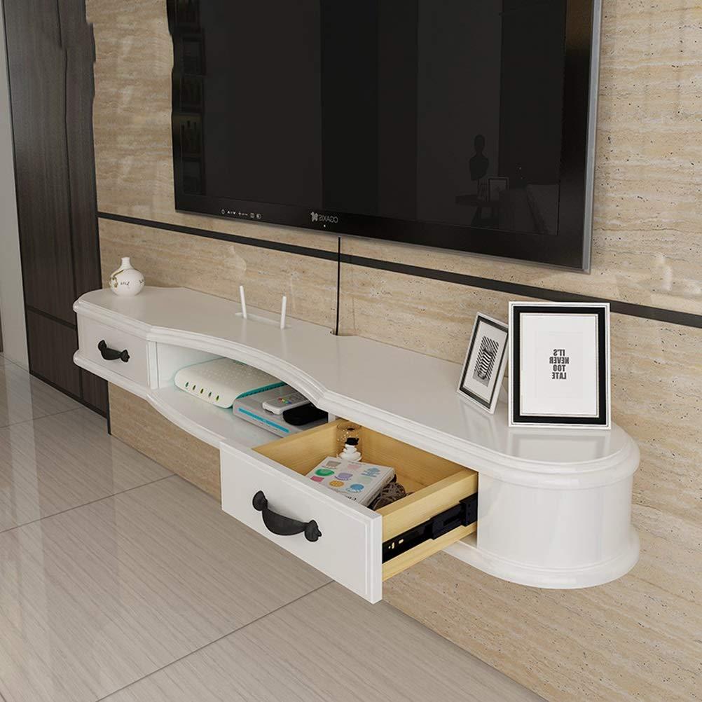引き出し壁掛けフローティング棚DVDラックテレビキャビネットwifiルーター棚セットトップボックスブラケットテレビコンソール背景壁キャビネット寝室ルーター収納 (サイズ さいず : 170cm) B07KTYG9RJ  170cm