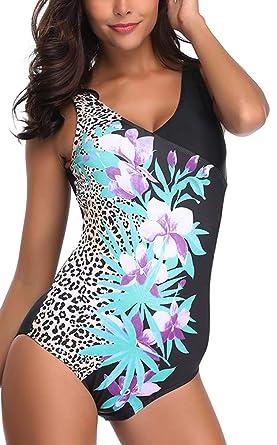ec5d2248ce Achruor Maillots de Bain Une Pièces Bikini de Femmes Sexy à Une épaule  Tankini Elégant Amincissant