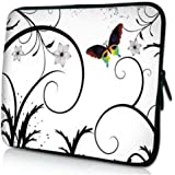 Butterfly White Laptop Sleeve 13 inch