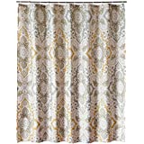 """Shower Curtain, Welwo, Stall Shower Curtain 36 x 72 inch """"Tan Paisley"""" Bathroom Curtain Waterproof Mold/Mildew Resistant Anti-Bacterial Non Toxic Eco-Friendly No Chemical Odor Fabric"""