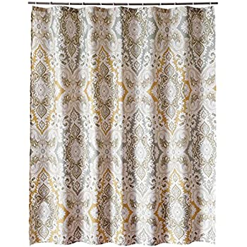 Shower Curtains, Welwo 96-inches Extra/X-Wide Shower Curtain Liner Fabric Set with Hooks,Rings for Bathroom Decor (Mold Resistant Water-Repellent & Anti-Bacteral Designed) - 96 x 78 inches Paisley