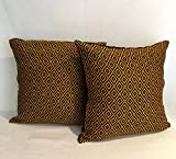 Pair Pillowcases, hand embroidered from San Andres, Chiapas, Mexico. 42 x 42 cm/ 16.5 inch