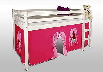 Vorhang Set Etagenbett : Vorhangset neues design pink rosa für hochbet spielbett etagenbett
