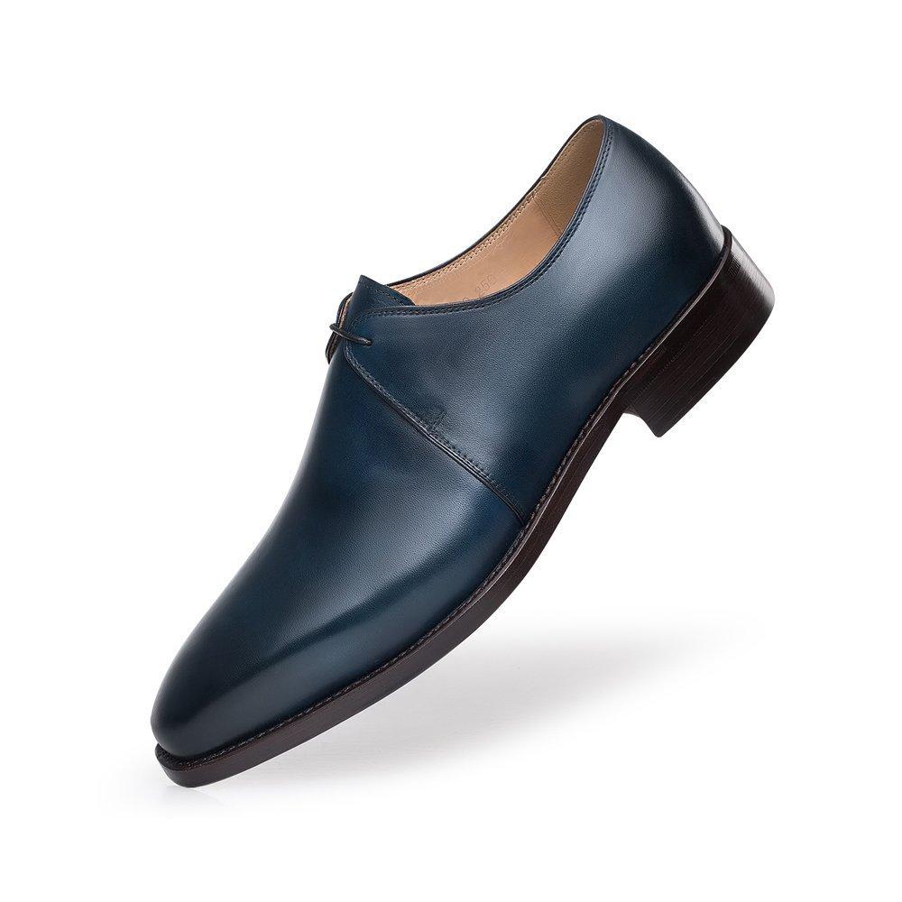 ZRO Men's Y8999 Blue Leather Formal Business Dress Shoes 7 M US