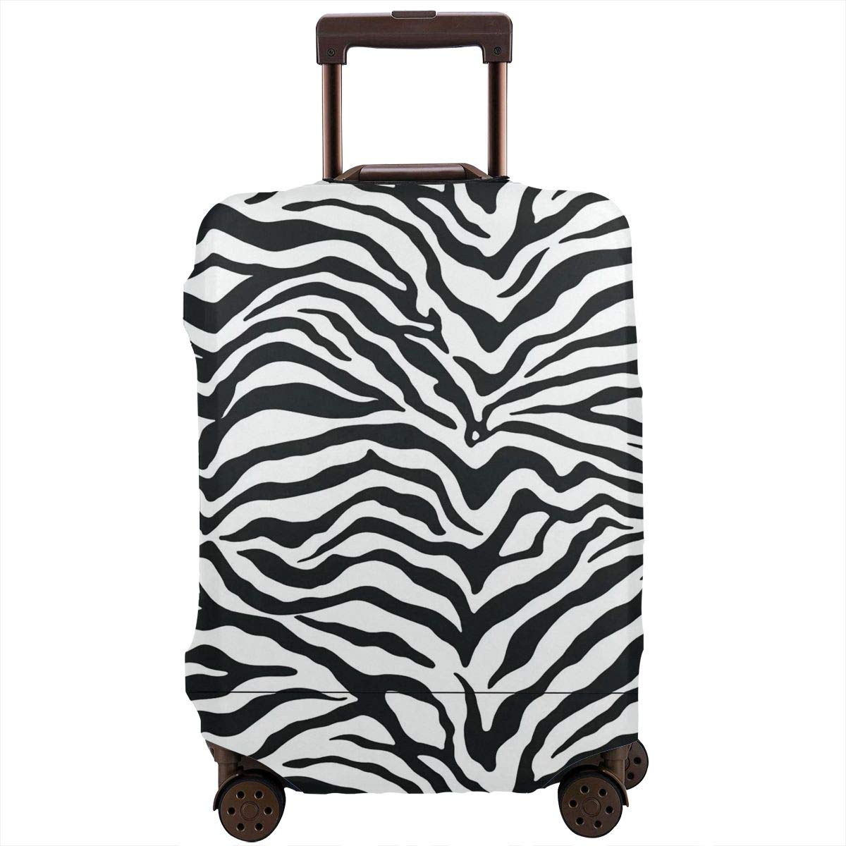 4 Size Black And White Zebra Print Tattoo Printed Business Luggage Protector Travel Baggage Suitcase Cover