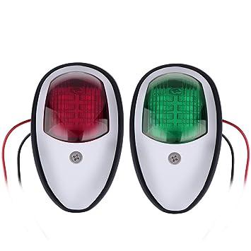 Boat//Marine//Port//Starboard//Stern Pair 12V LED White Navigation Light KIt
