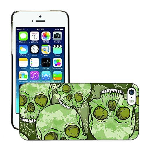Premio Sottile Slim Cassa Custodia Case Cover Shell // V00001647 camouflage du crâne A // Apple iPhone 5 5S 5G