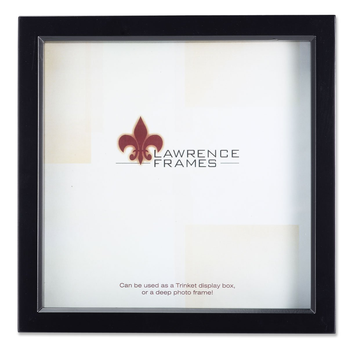 Lawrence Frames Black Wood Treasure Box Shadow Box Picture Frame, 8 by 8-Inch 795088