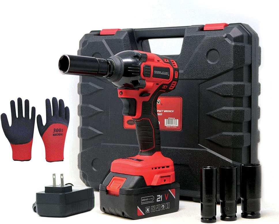 Lion Tools ZTP011 Toolman Lithium-ion cordless Impact Wrench kit 1 2 21V with Drill Set 7 pcs 1 BATTERY for Heavy Duty works with DeWalt Makita Ryobi Accessories