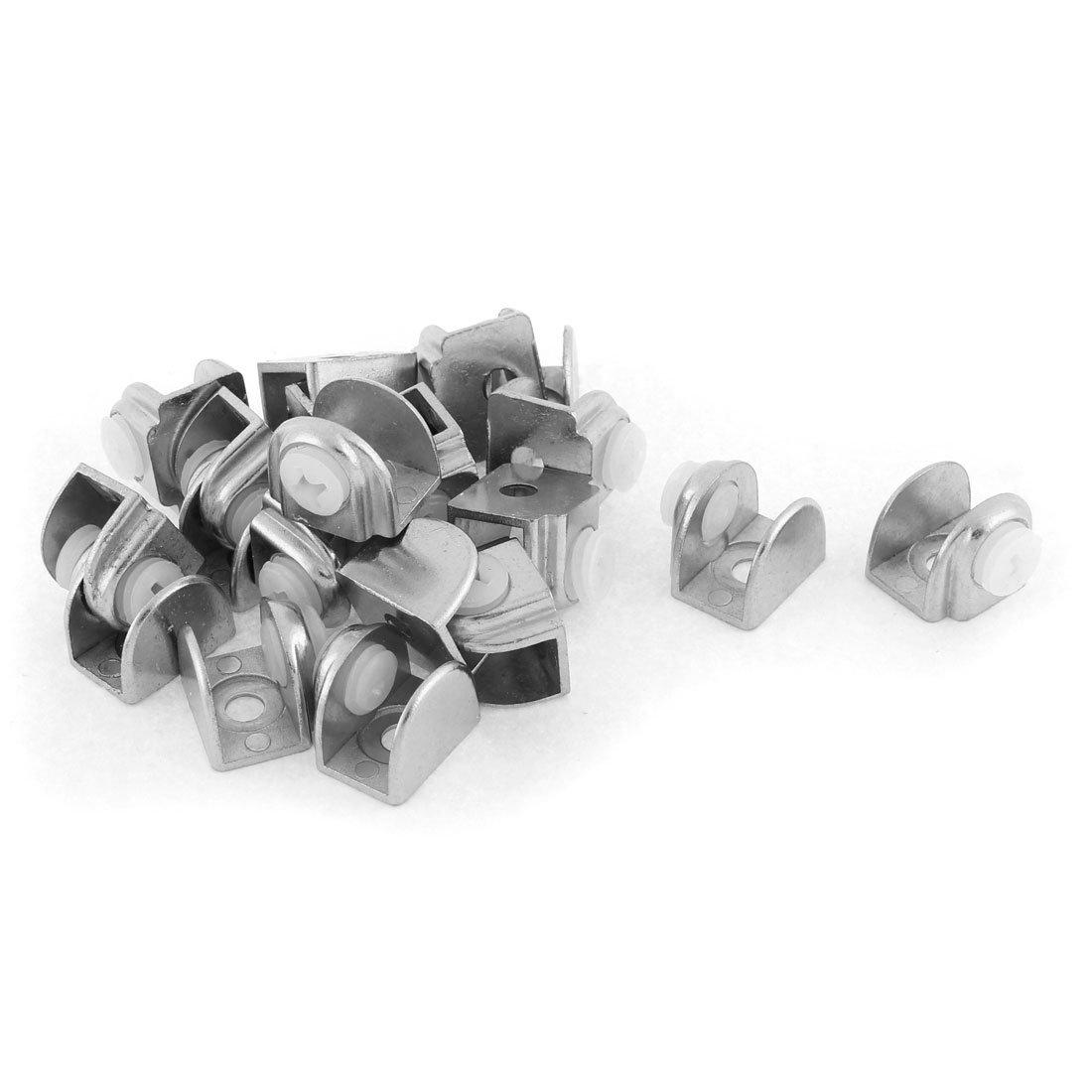 Semicerchio 5-9mm Spessore vetro Clip scaffale Supporto serraggio staffa supporto 20pz sourcing map SYNCE010298