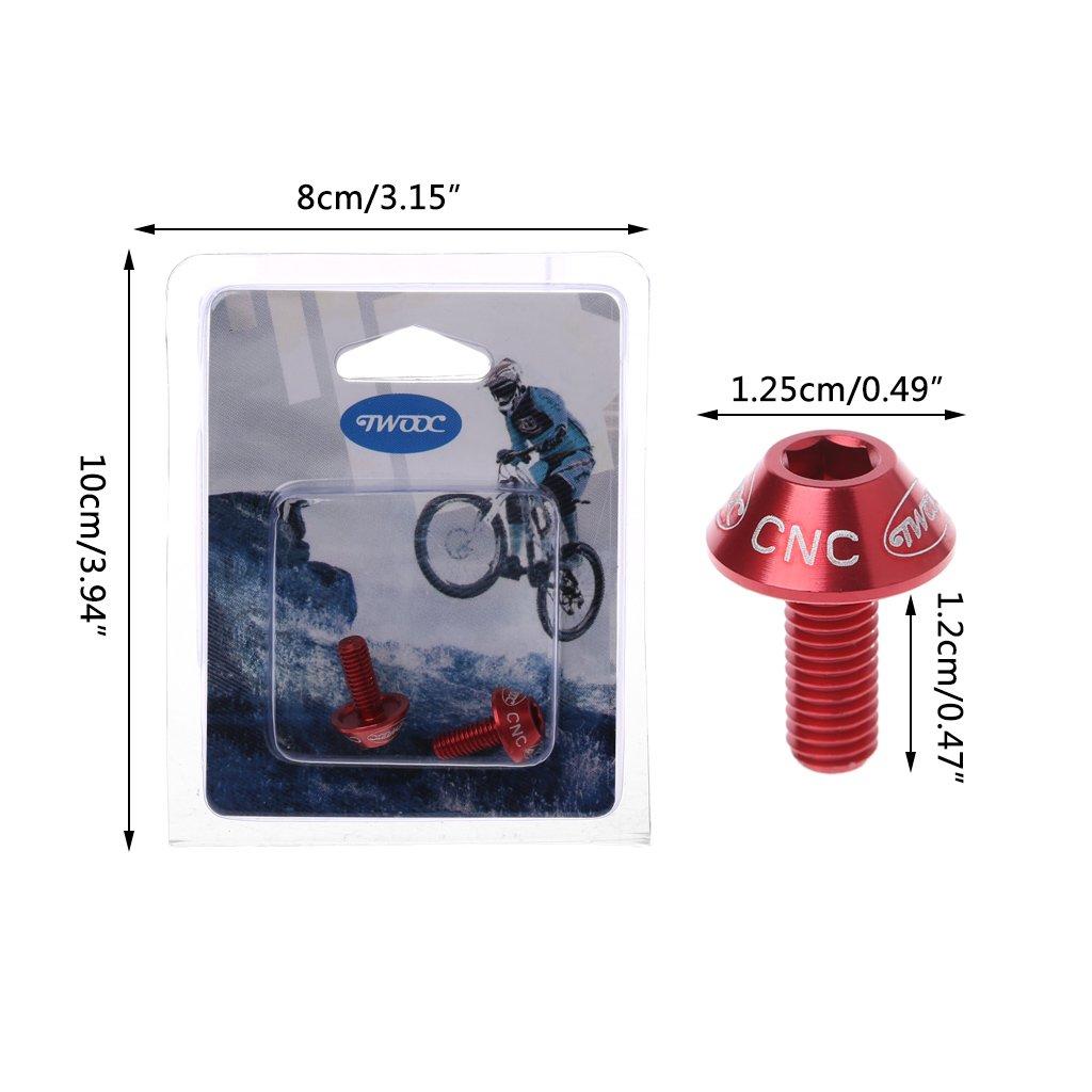 2Pcs M5x10mm Aluminum Alloy Bike Bicycle Water Bottle Cage Bolt Holder Screw