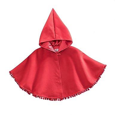GWELL - Abrigos - para bebé niña rojo 90 cm : Amazon.es: Ropa y accesorios